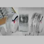 Stoff Zierband X-Mas silber sortiert
