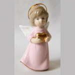 Engel rosa Porzellan 8,5cm
