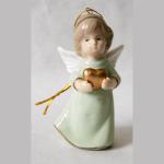 Engel mint Porzellan 8,5cm
