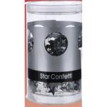 Sternkonfetti silber 50g in Dose