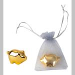 Schwein gold 3cm Organza