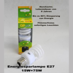Energiesparlampe 15W/E27/8000h