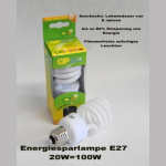 Energiesparlampe 20W/E27/8000h