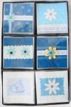 Billette blau Handgemacht 10x10cm
