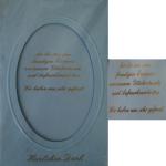 Billette Geburtsanzeige blau