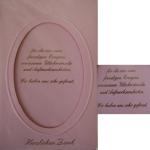 Billette Geburtsanzeige rosa