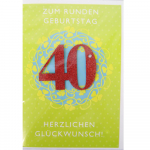 Billette Geburtstag 40Jahre EAN