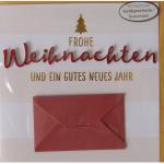 Billette Weihnachten Gutschein EAN 11,5x16,5cm