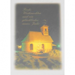 Billette Weihnachten Kirche 10,5x14,5cm