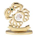 Figur Crystal Krebs Sternzeichen gold 70x65mm